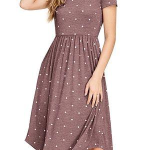 Cute XL Polka Dot Dress with U Hem